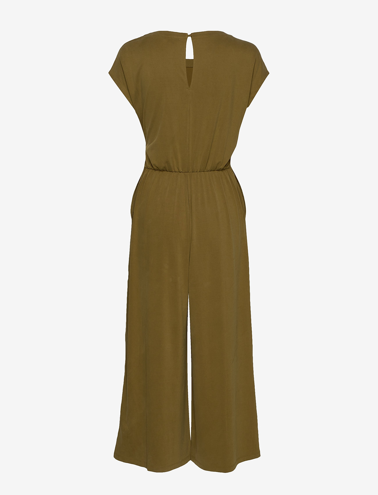 Banana Republic - Sandwash Tie-Front Cropped Jumpsuit - combinaisons - cindered olive - 1