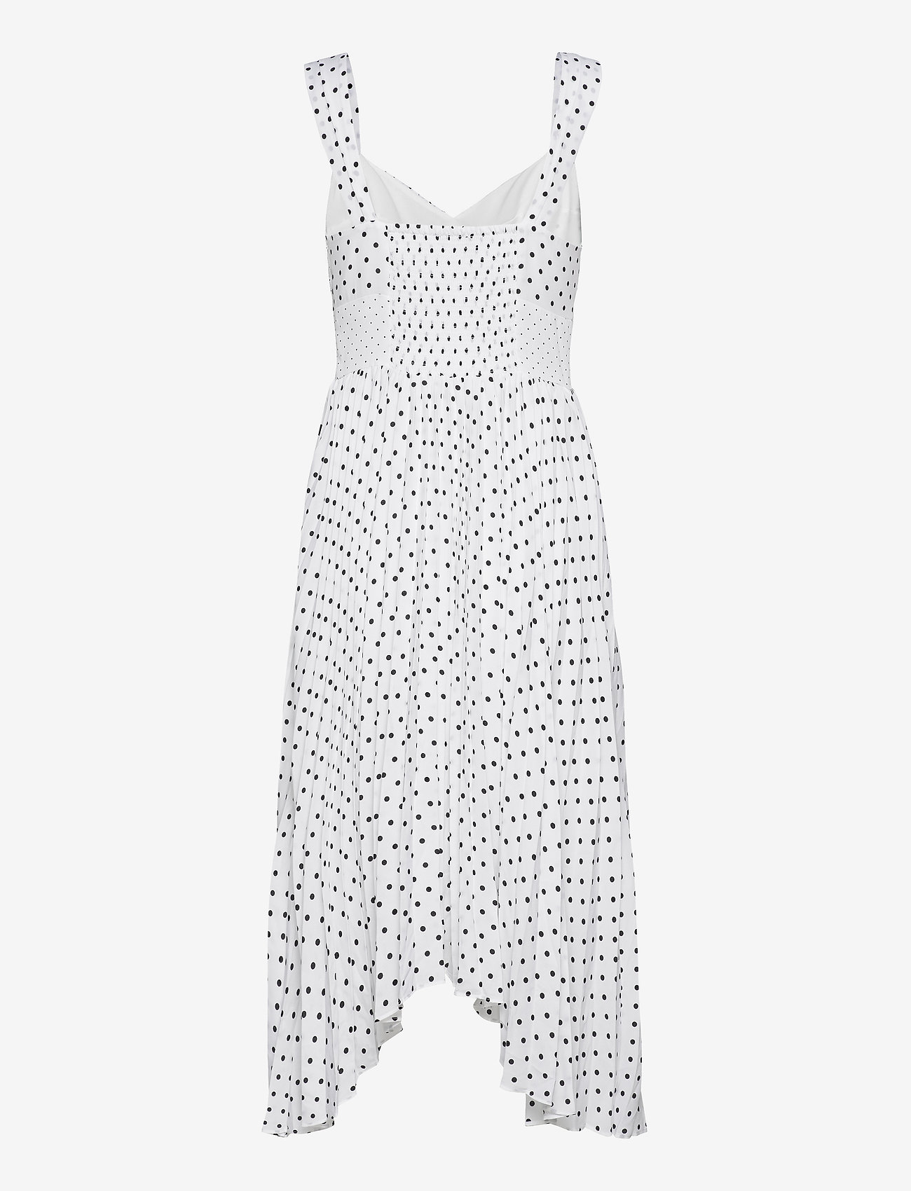 Print Sweetheart Pleated Midi Dress (Black Dot Global) (117.60 €) - Banana Republic Ozc86