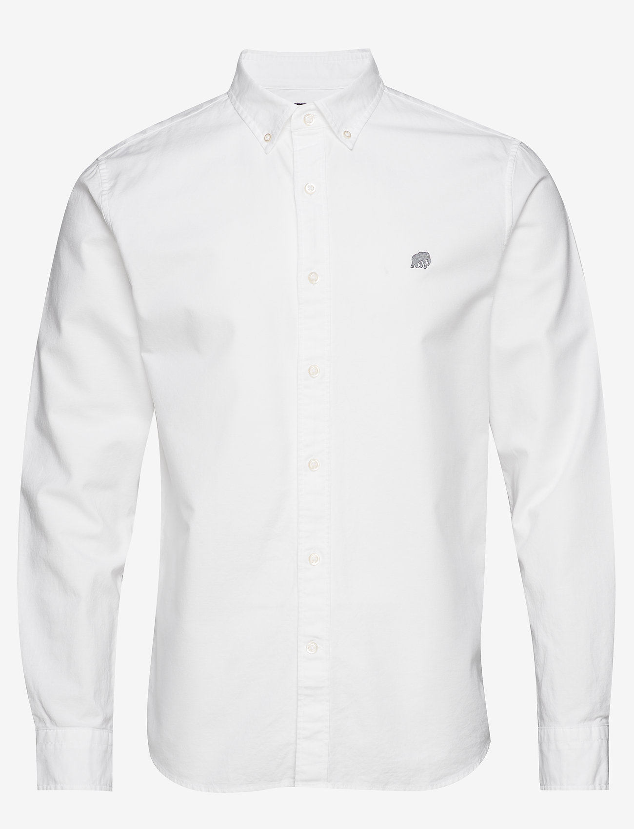 Banana Republic - I UT LOGO OXFORD SOLID - basic shirts - vwhite - 0