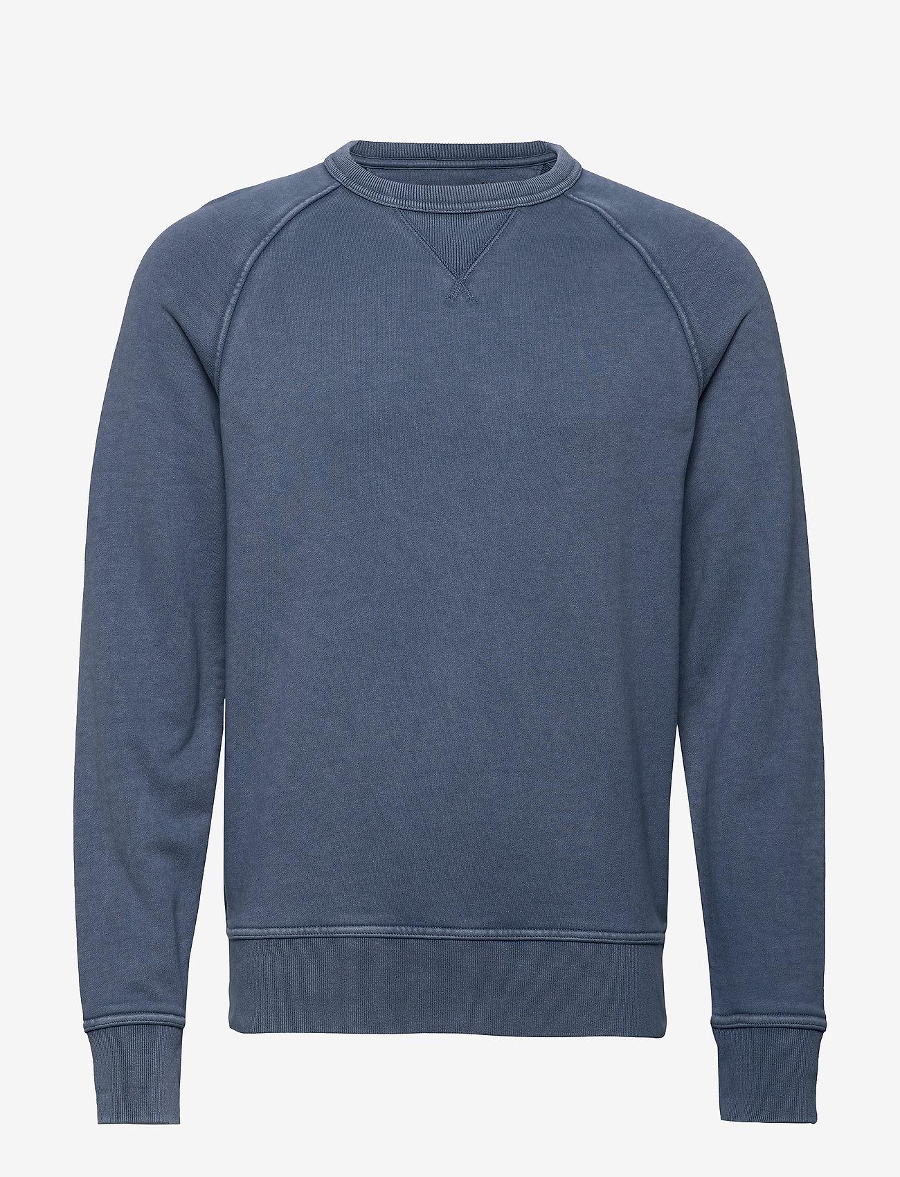 Banana Republic - French Terry Sweatshirt - basic sweatshirts - blue shadow - 0