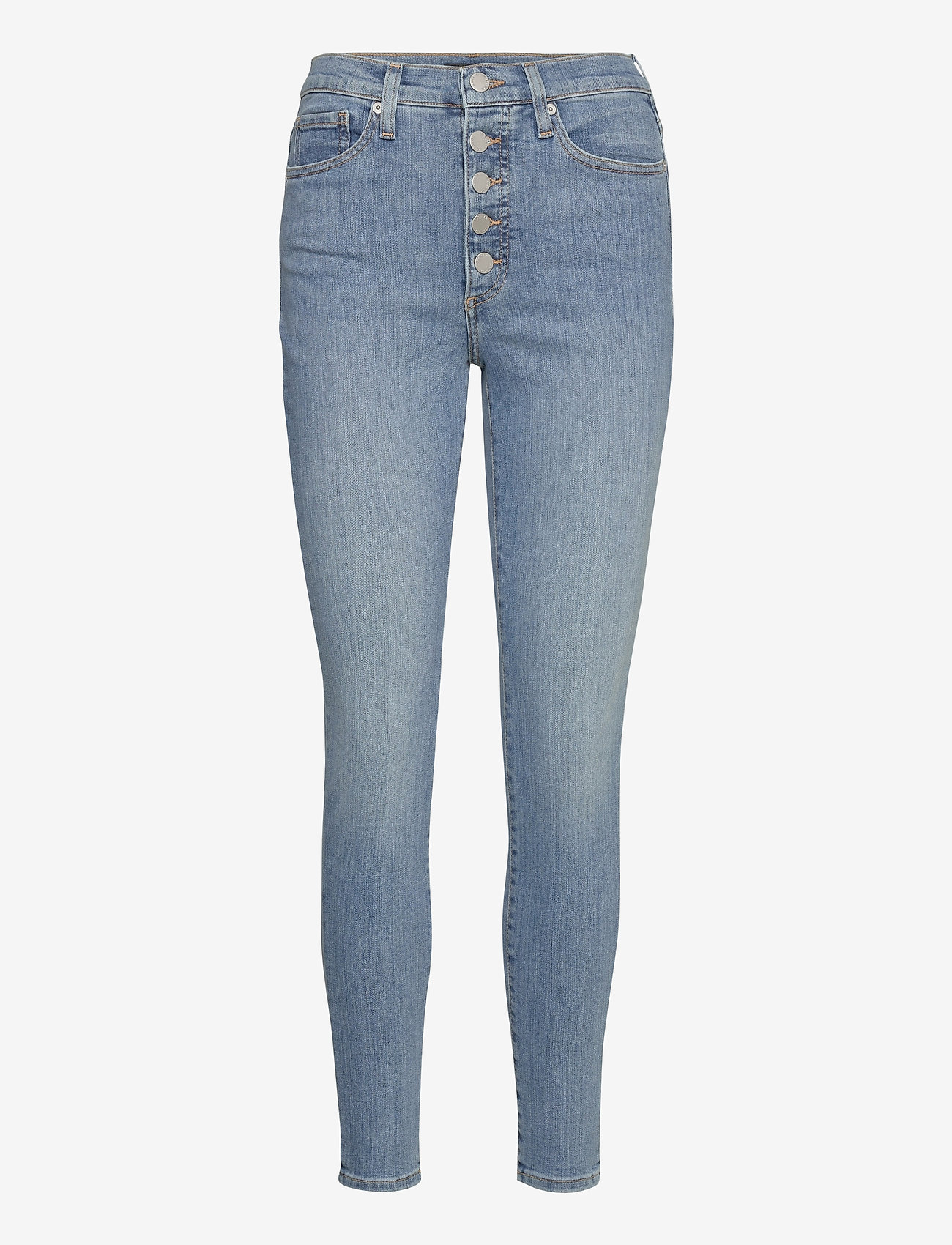 Banana Republic - High-Rise Skinny Button-Fly Jean - slim jeans - medium wash - 0