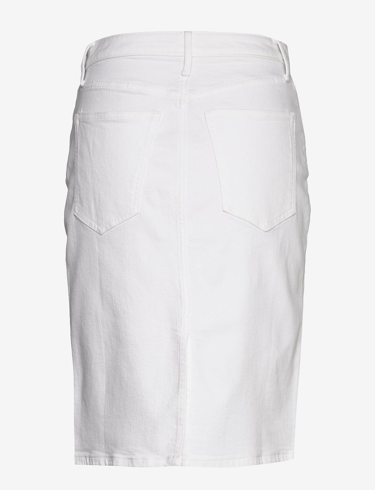 Banana Republic - Button-Fly Denim Pencil Skirt - denim skirts - white denim - 1
