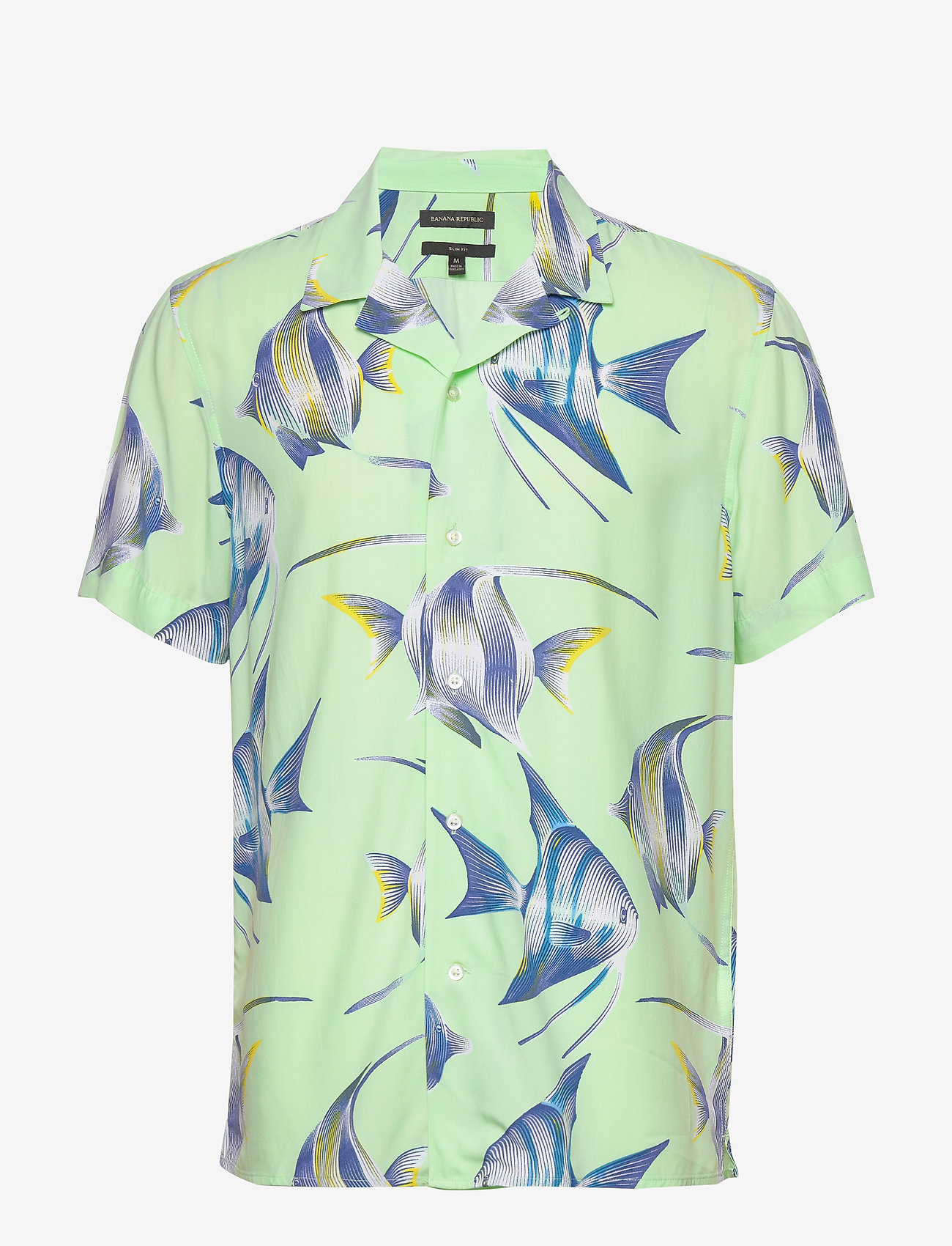 Banana Republic - Slim Soft Resort Shirt - short-sleeved shirts - sea green - 0