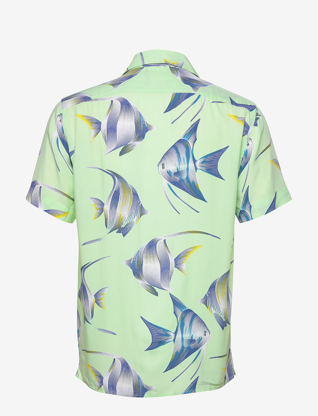 Banana Republic - Slim Soft Resort Shirt - short-sleeved shirts - sea green - 1