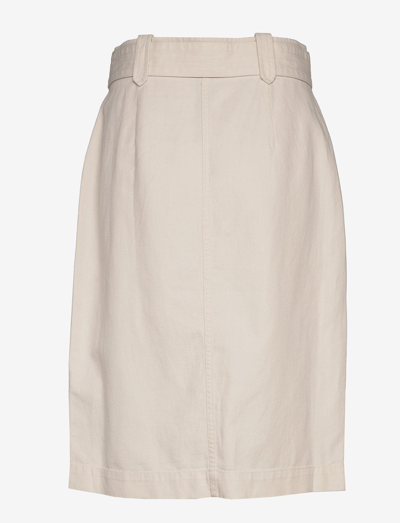 Banana Republic - Heritage Cotton-Linen Safari Skirt - midi skirts - transition cream - 1