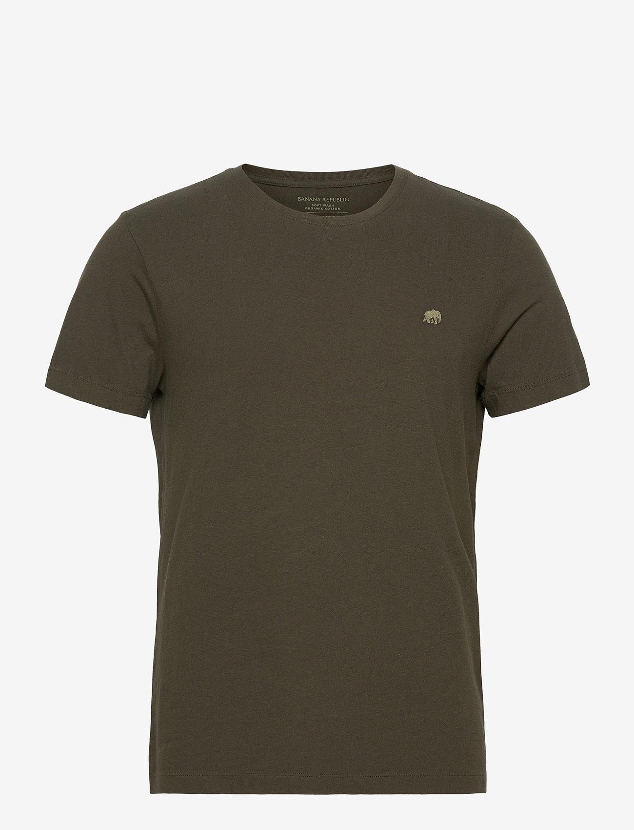 Banana Republic - I LOGO SOFTWASH ORGANIC TEE - basic t-shirts - nightshade global - 0