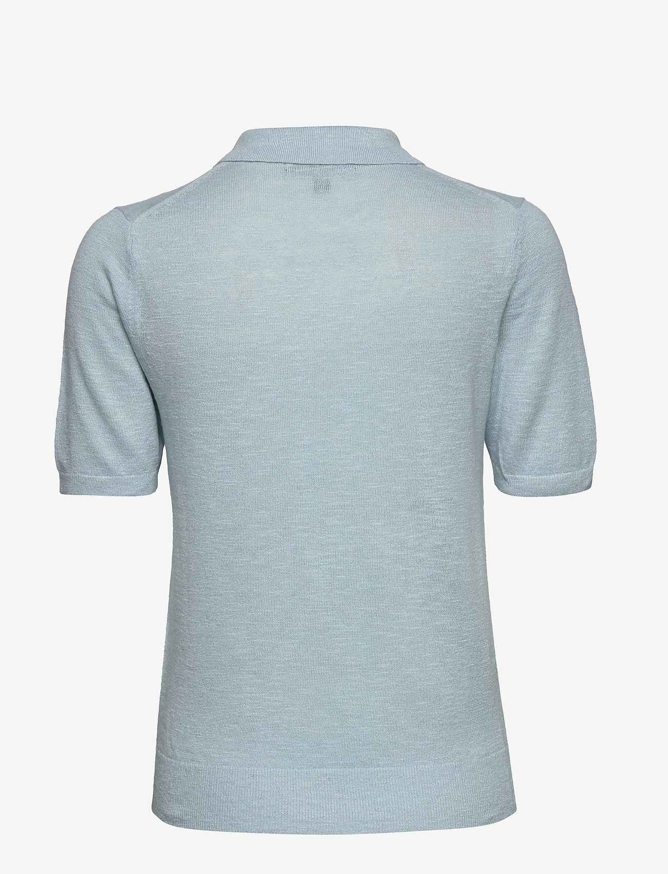 Banana Republic - Linen-Blend Sweater Polo - knitted tops - light blue - 1