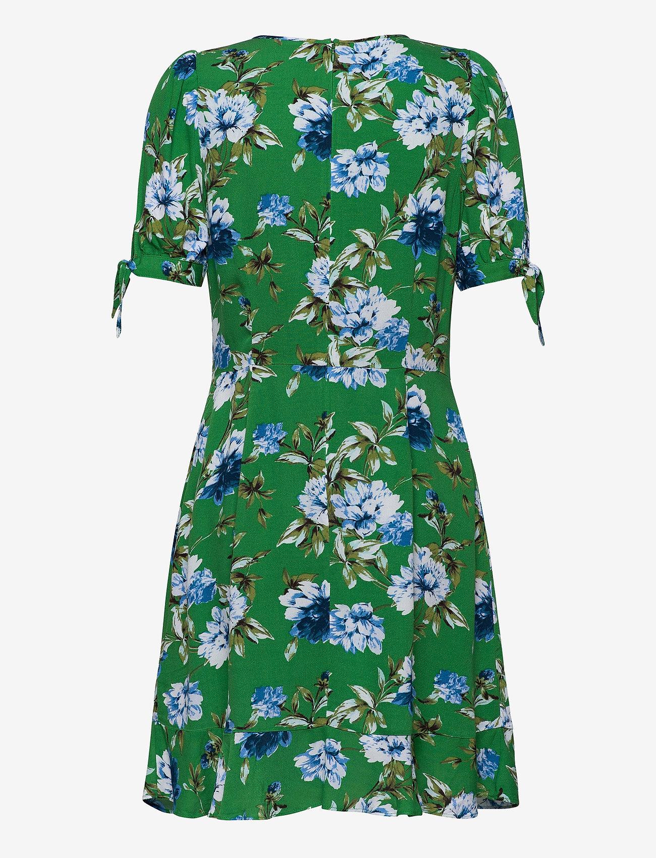 Banana Republic Ecovero™ Puff-sleeve Dress - Klänningar Green Floral Botanical
