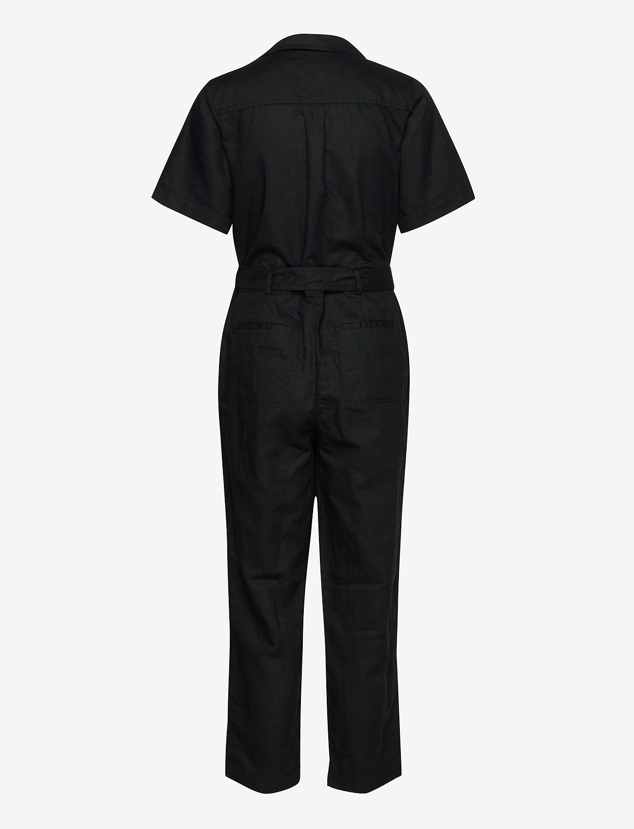 Banana Republic - Linen-Cotton Utility Jumpsuit - combinaisons - black - 1