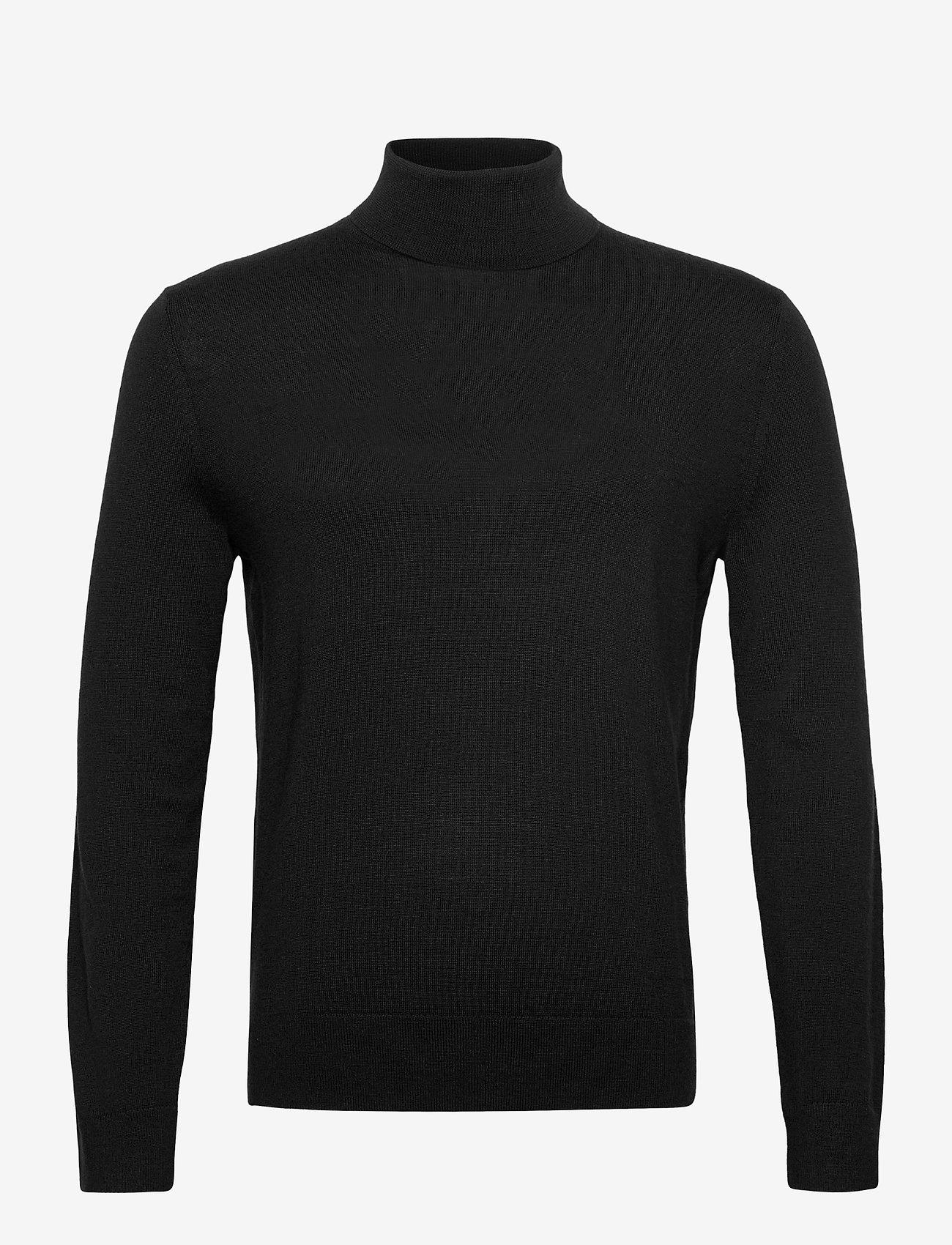 Banana Republic - Italian Merino Turtleneck Sweater - basic knitwear - black k-100 - 0