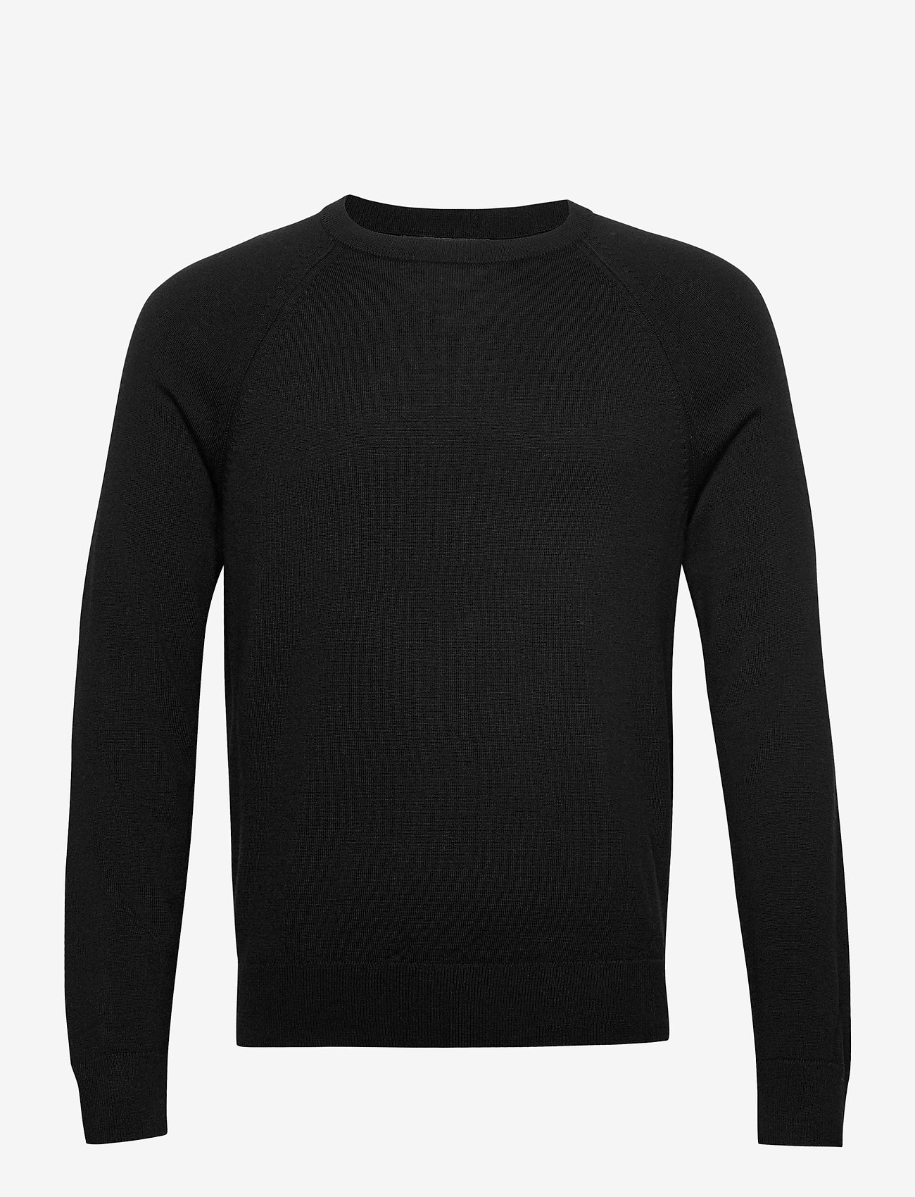 Banana Republic - Italian Merino Crew-Neck Sweater - basic knitwear - black - 0