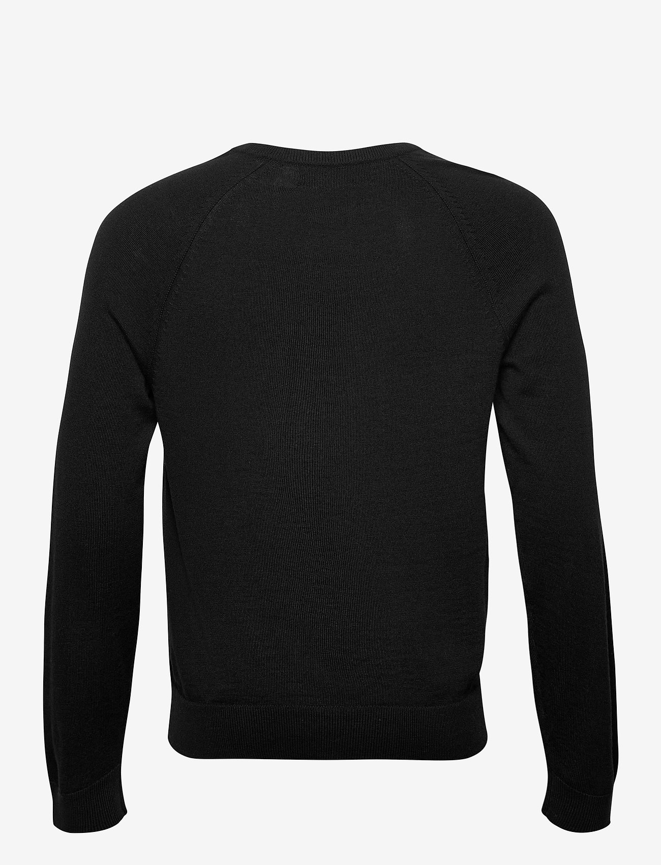 Banana Republic - Italian Merino Crew-Neck Sweater - basic knitwear - black - 1