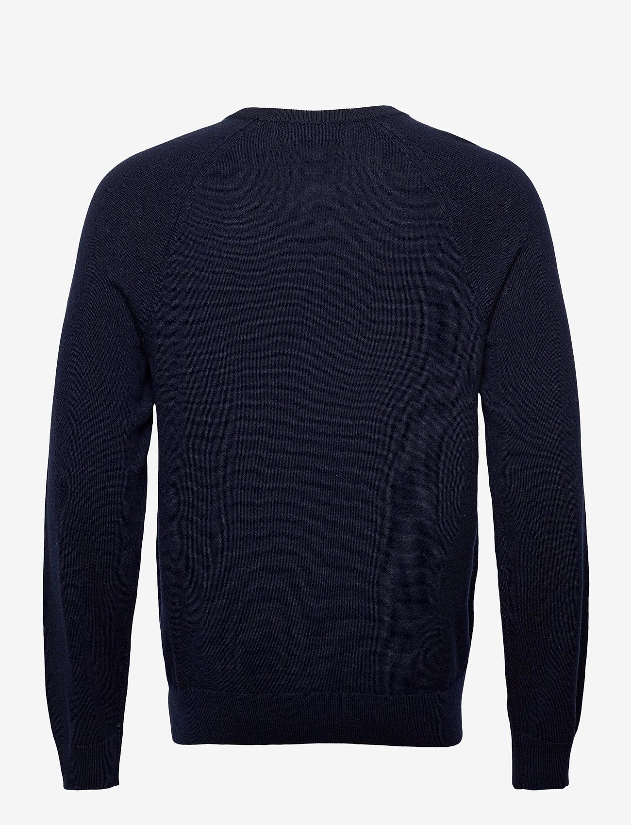 Banana Republic - Italian Merino Crew-Neck Sweater - basic knitwear - navy - 1