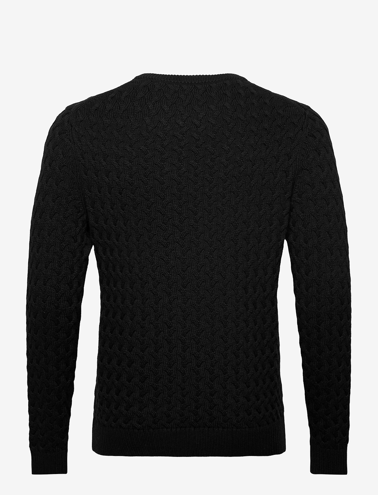 Banana Republic - SUPIMA® Cable-Knit Sweater - basic knitwear - black - 1