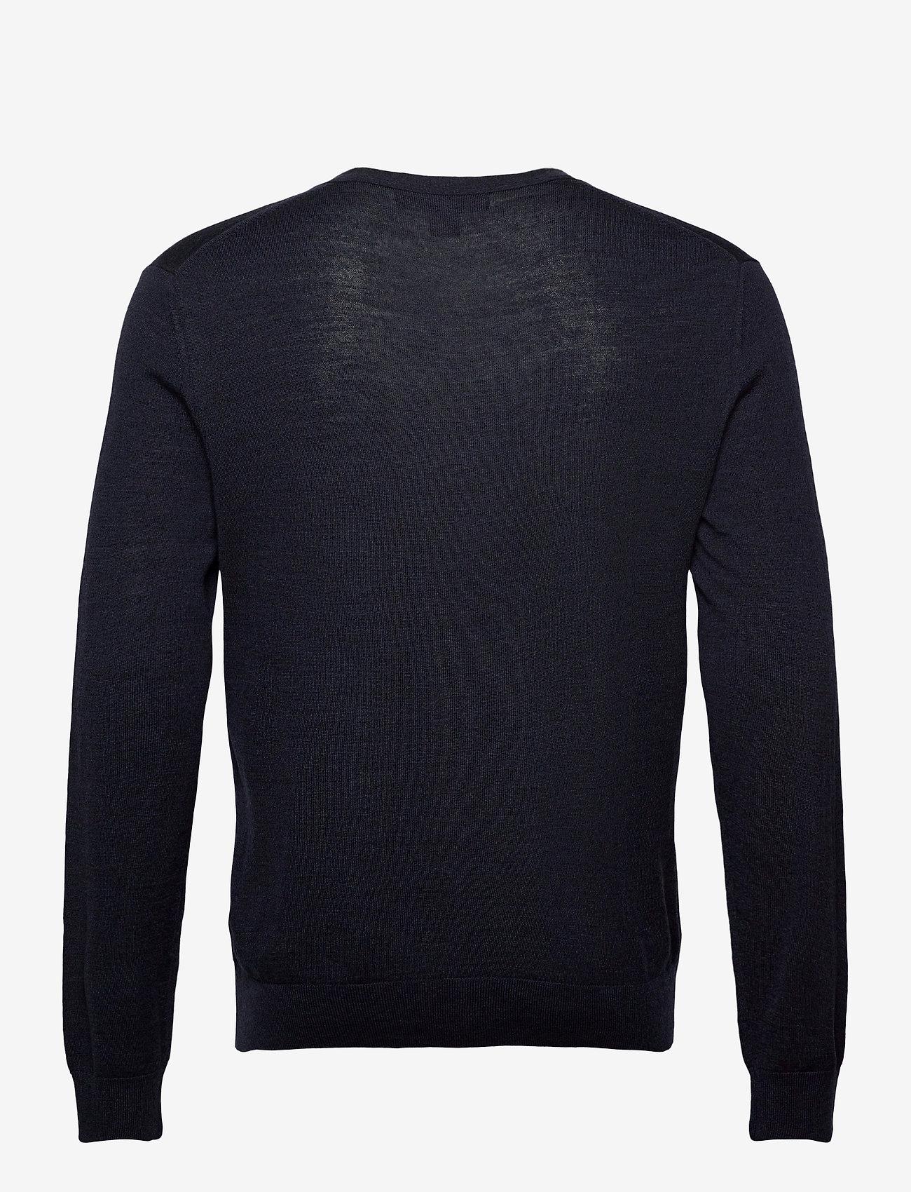 Banana Republic - Merino Cardigan Sweater in Responsible Wool - basic knitwear - navy heather - 1