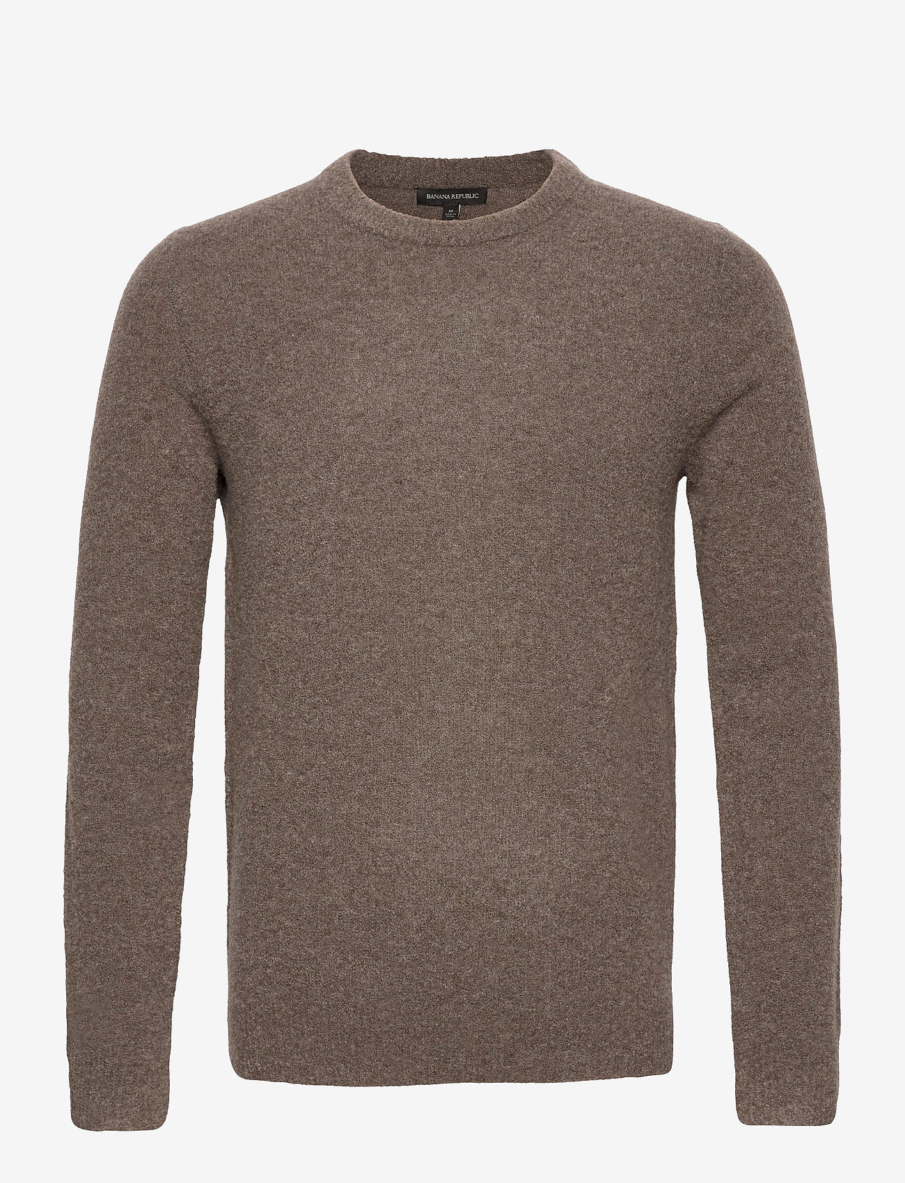 Banana Republic - Wool-Blend Crew-Neck Sweater - basic knitwear - soft taupe - 0
