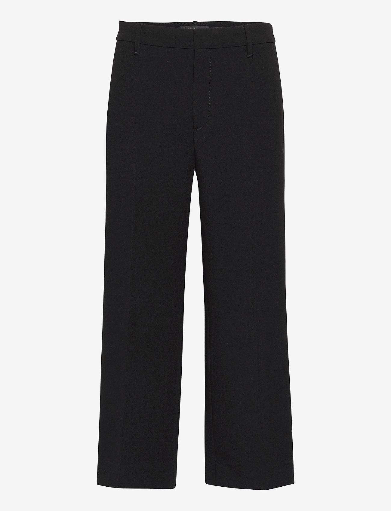 Banana Republic - Slim Wide-Leg Cropped Pant - bukser med brede ben - black k-100 - 0