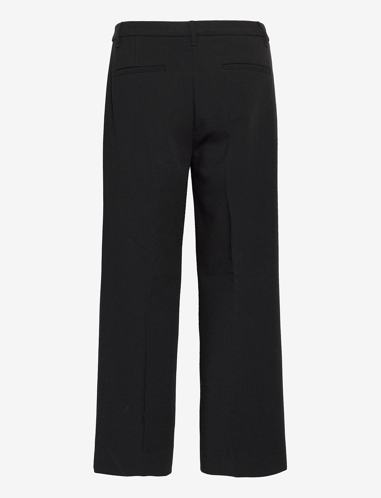 Banana Republic - Slim Wide-Leg Cropped Pant - bukser med brede ben - black k-100 - 1