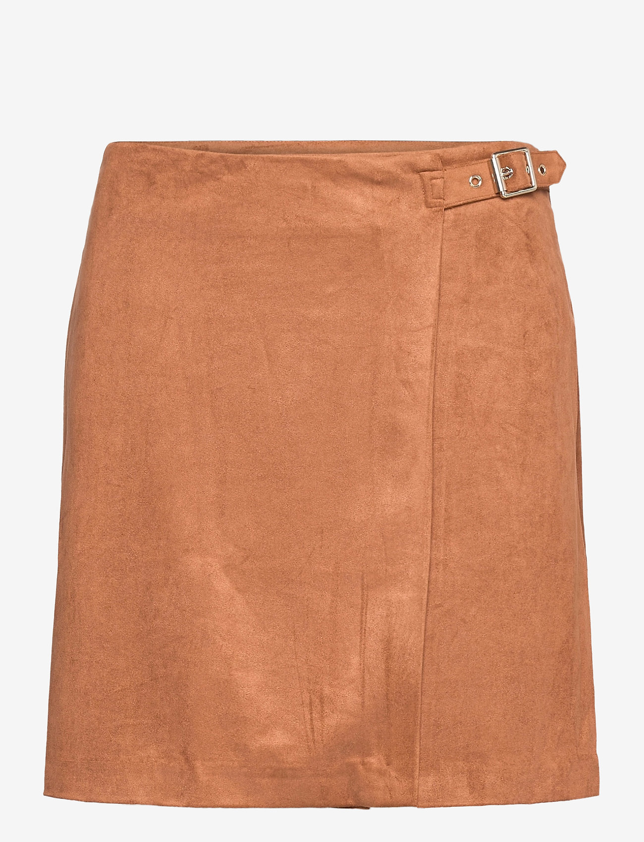 Banana Republic - Vegan Suede Wrap Mini Skirt - short skirts - camel - 0