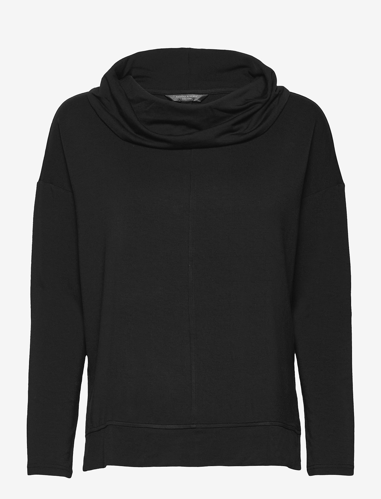 Banana Republic - Baby Terry Funnel-Neck Top - long-sleeved tops - black - 0