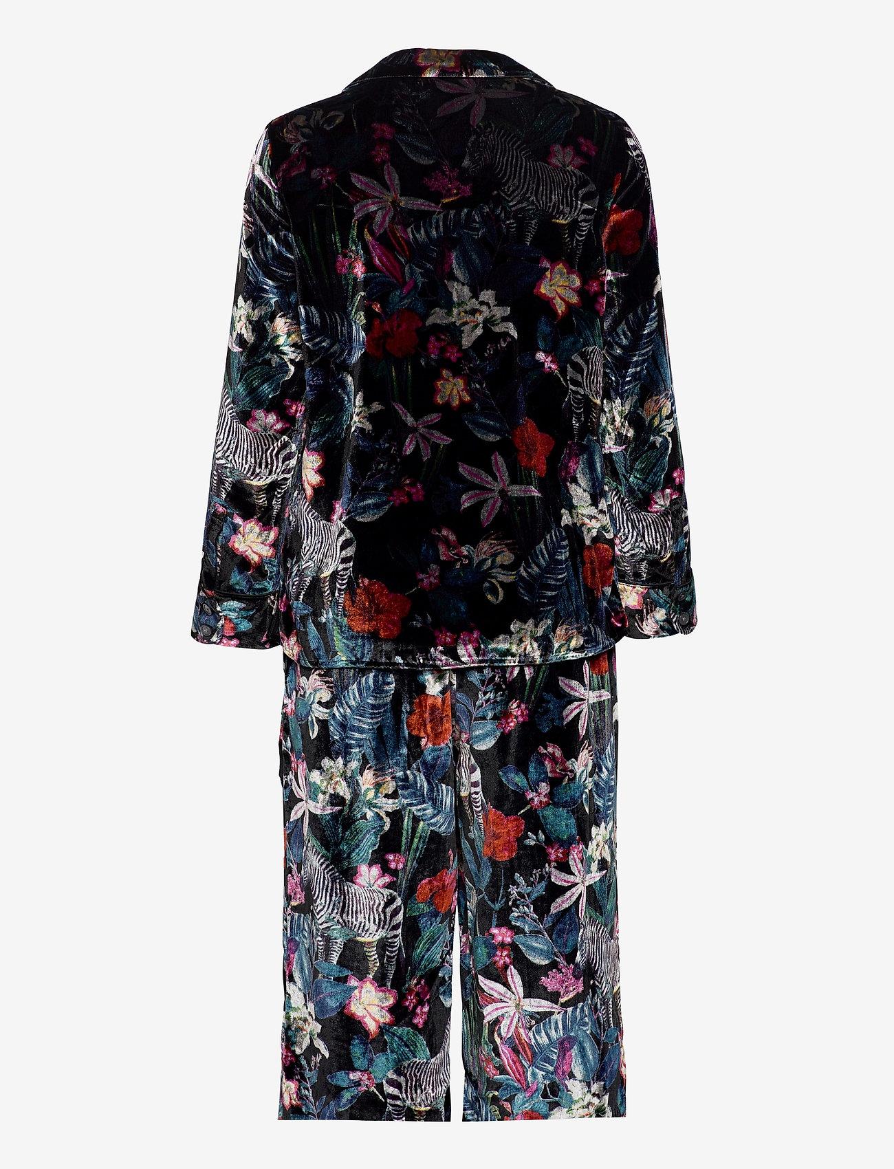 Banana Republic - Velvet Pajama Set - pyjama''s - fleur watercolor zebra - 1