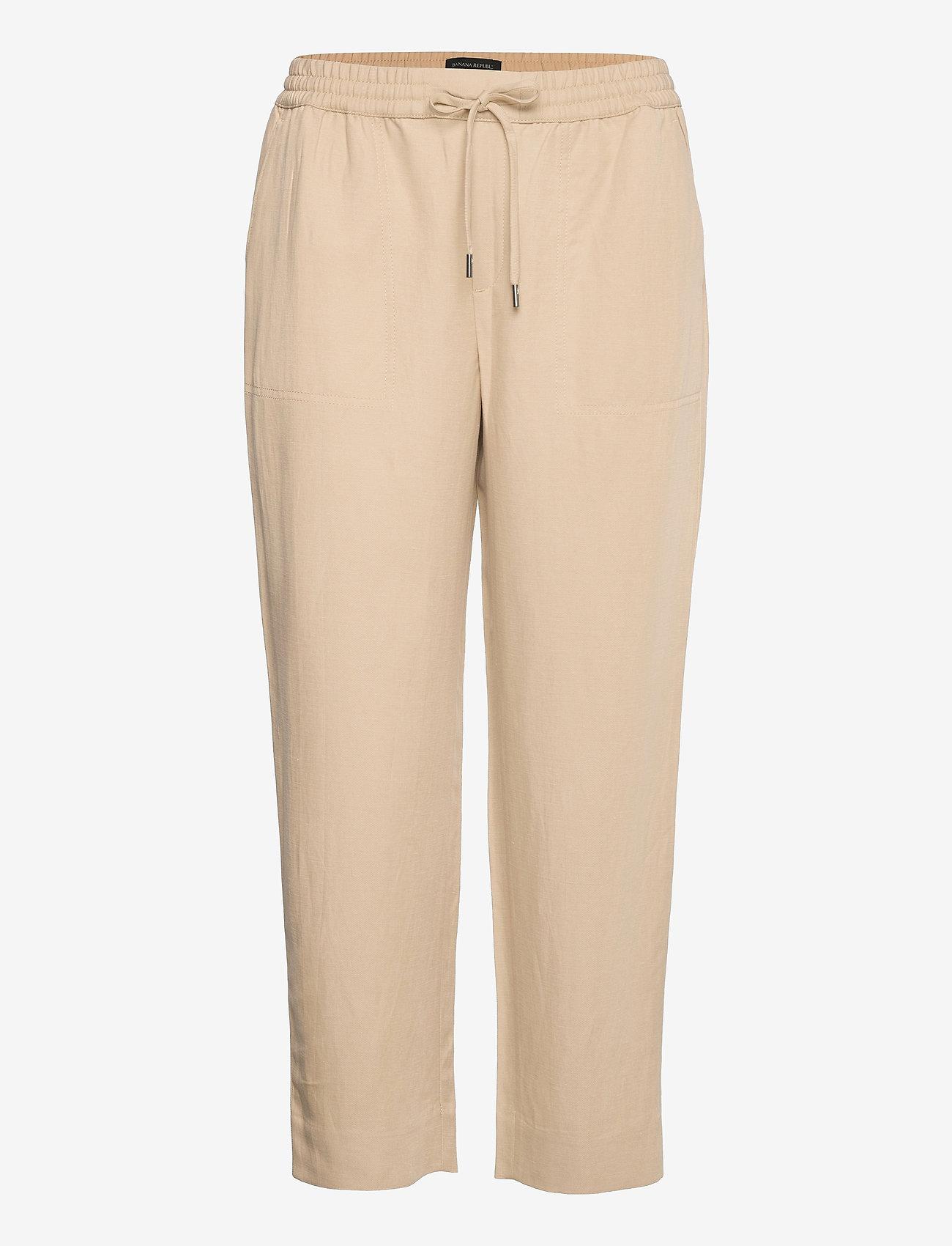 Banana Republic - Slim TENCEL™-Linen Pant - casual trousers - khaki - 0