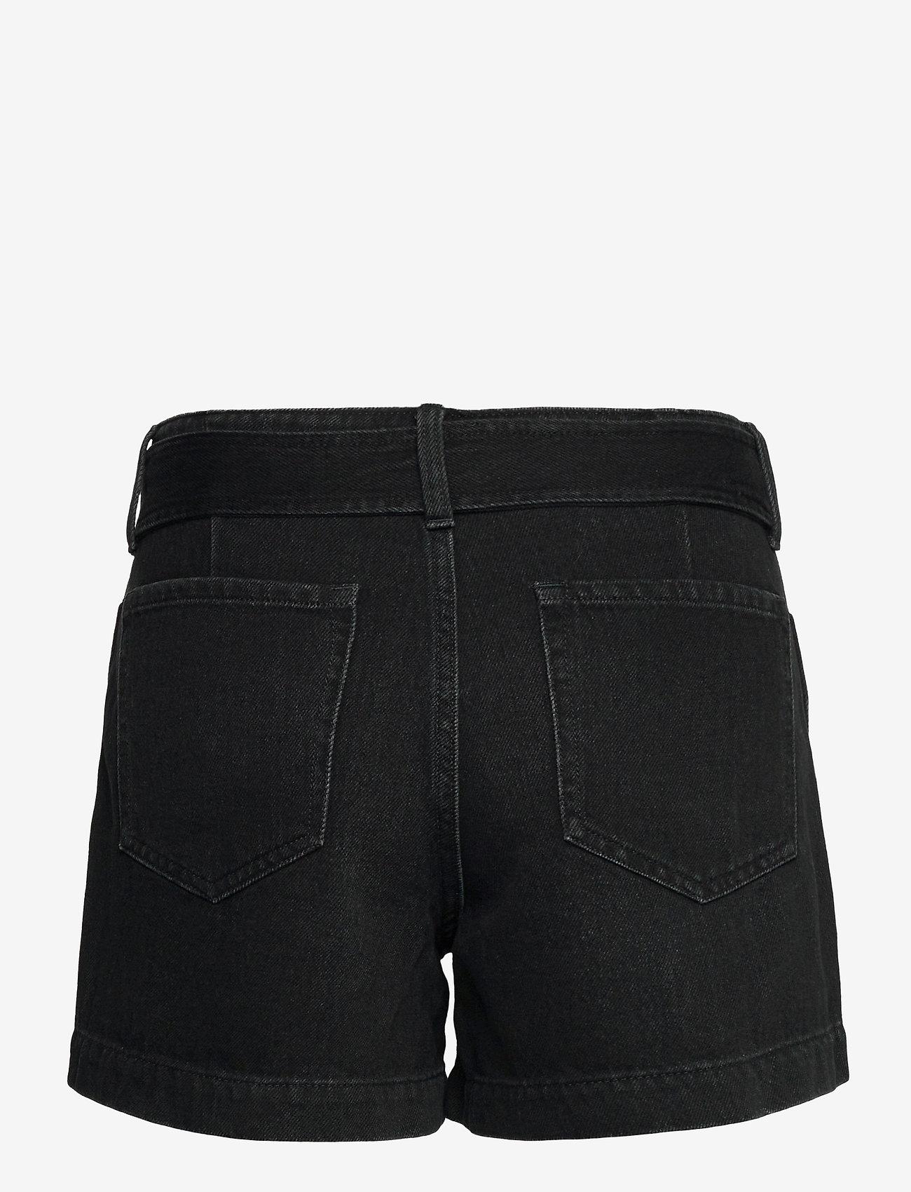 """Banana Republic - High-Rise Pleated 4"""" Jean Short - denim shorts - black wash - 1"""