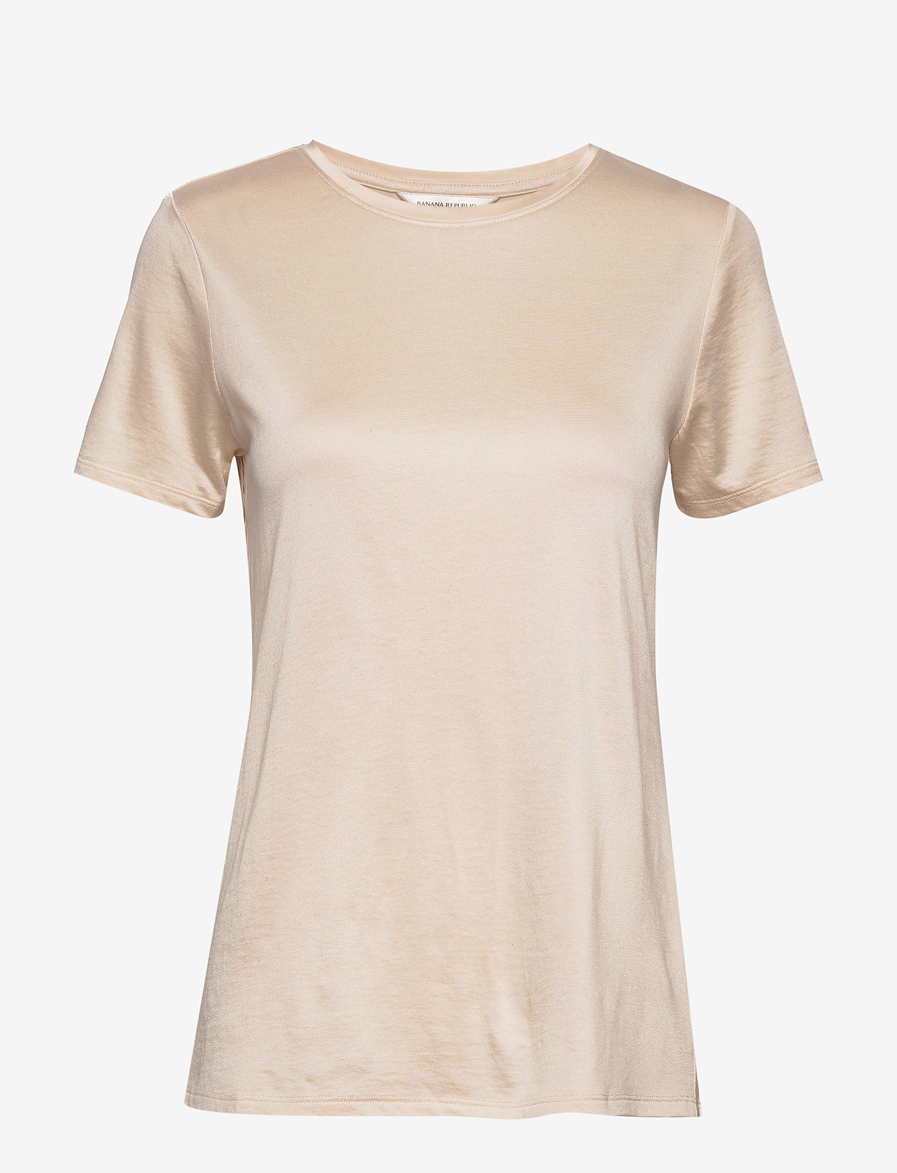 Banana Republic - I SS Elevated Tee - t-shirts - light ecru - 0