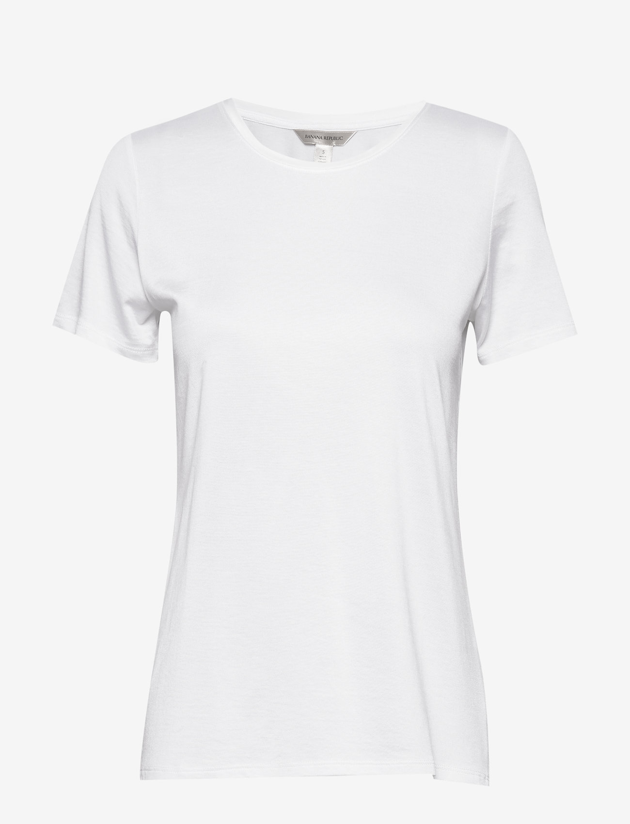 Banana Republic - I SS Elevated Tee - t-shirts - white000 - 0