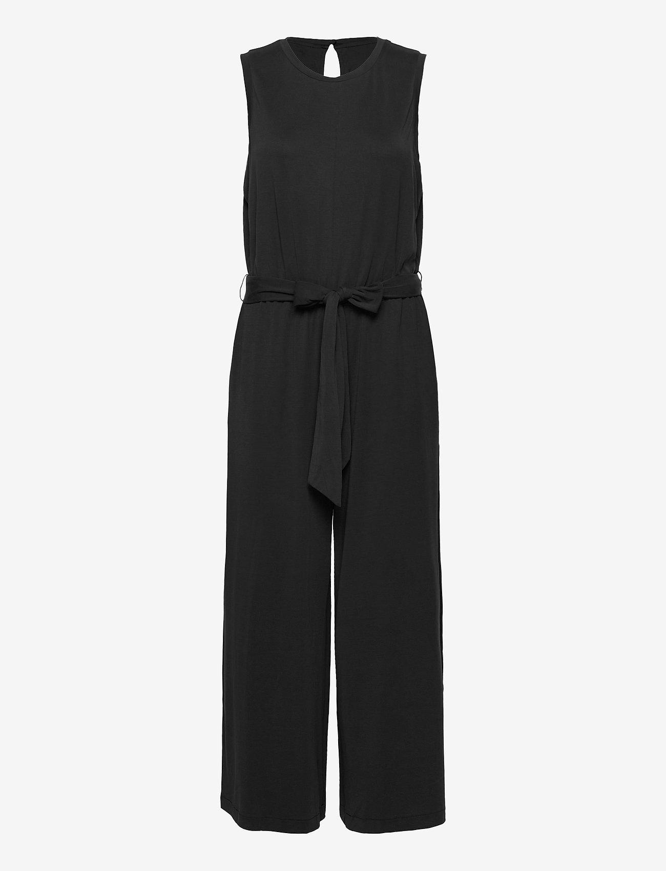 Banana Republic - Sandwash Cropped Wide-Leg Jumpsuit - jumpsuits - black k-100 - 0