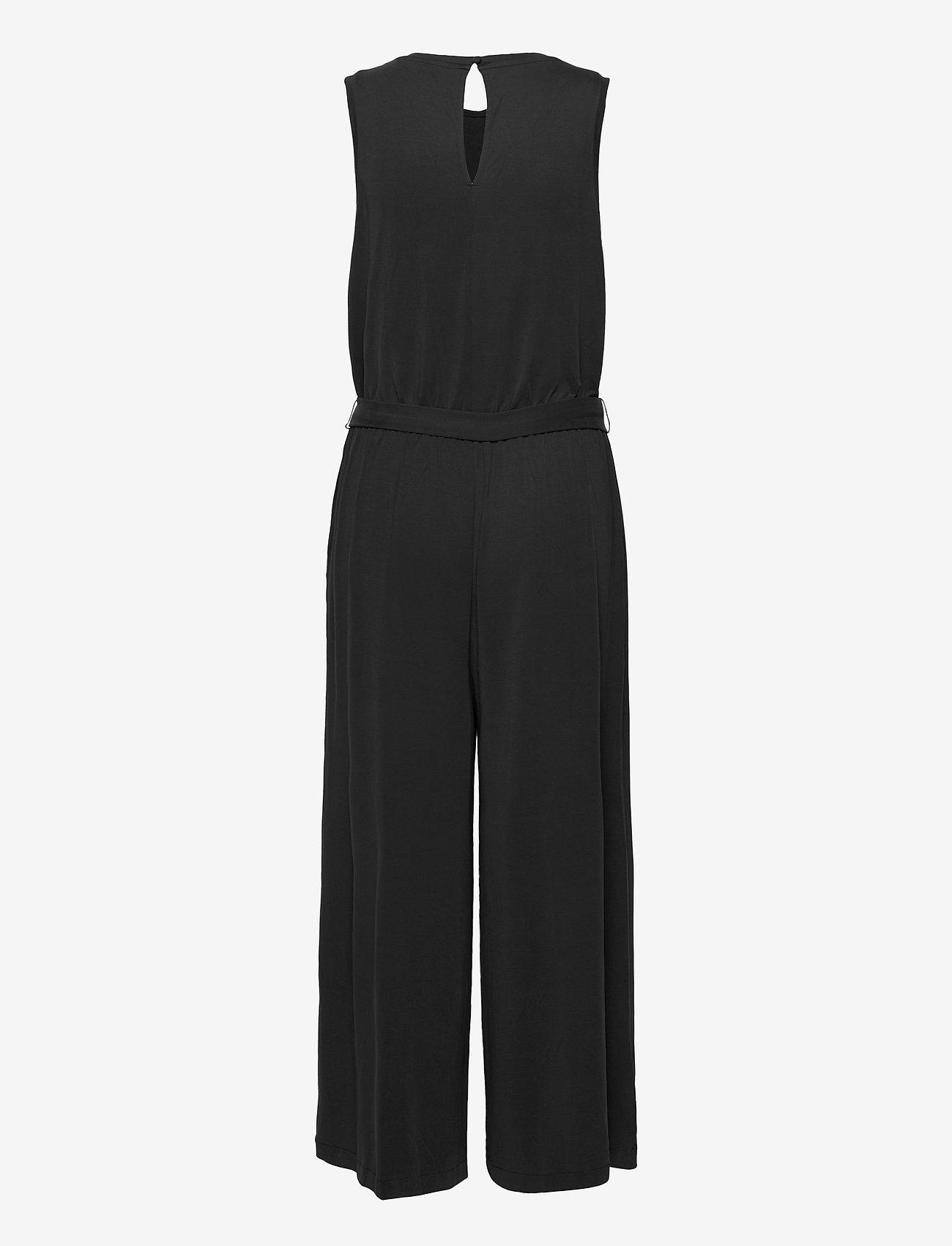 Banana Republic - Sandwash Cropped Wide-Leg Jumpsuit - jumpsuits - black k-100 - 1