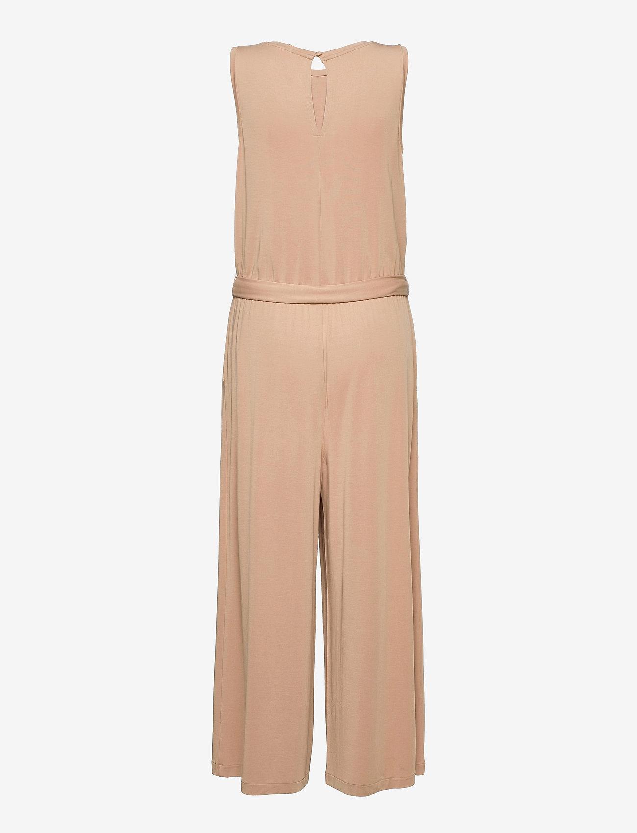 Banana Republic - Sandwash Cropped Wide-Leg Jumpsuit - jumpsuits - cool beige - 1