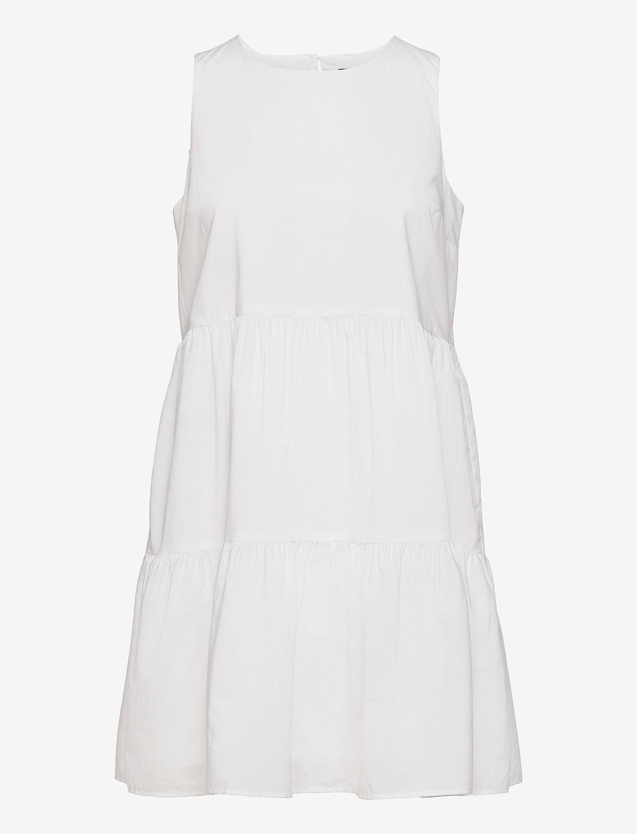 Banana Republic - Organic Poplin Tiered Mini Dress - summer dresses - vwhite - 0