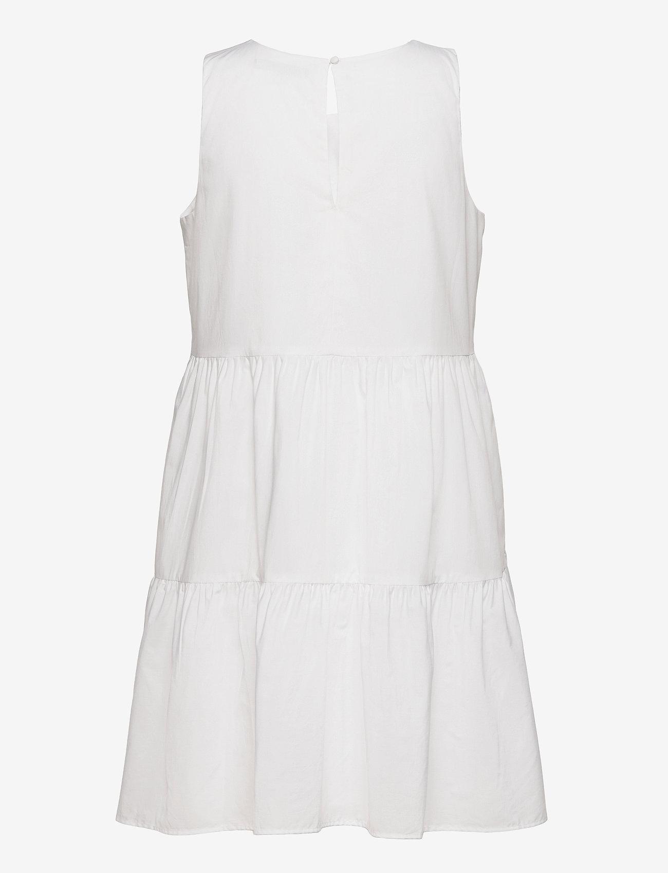 Banana Republic - Organic Poplin Tiered Mini Dress - summer dresses - vwhite - 1