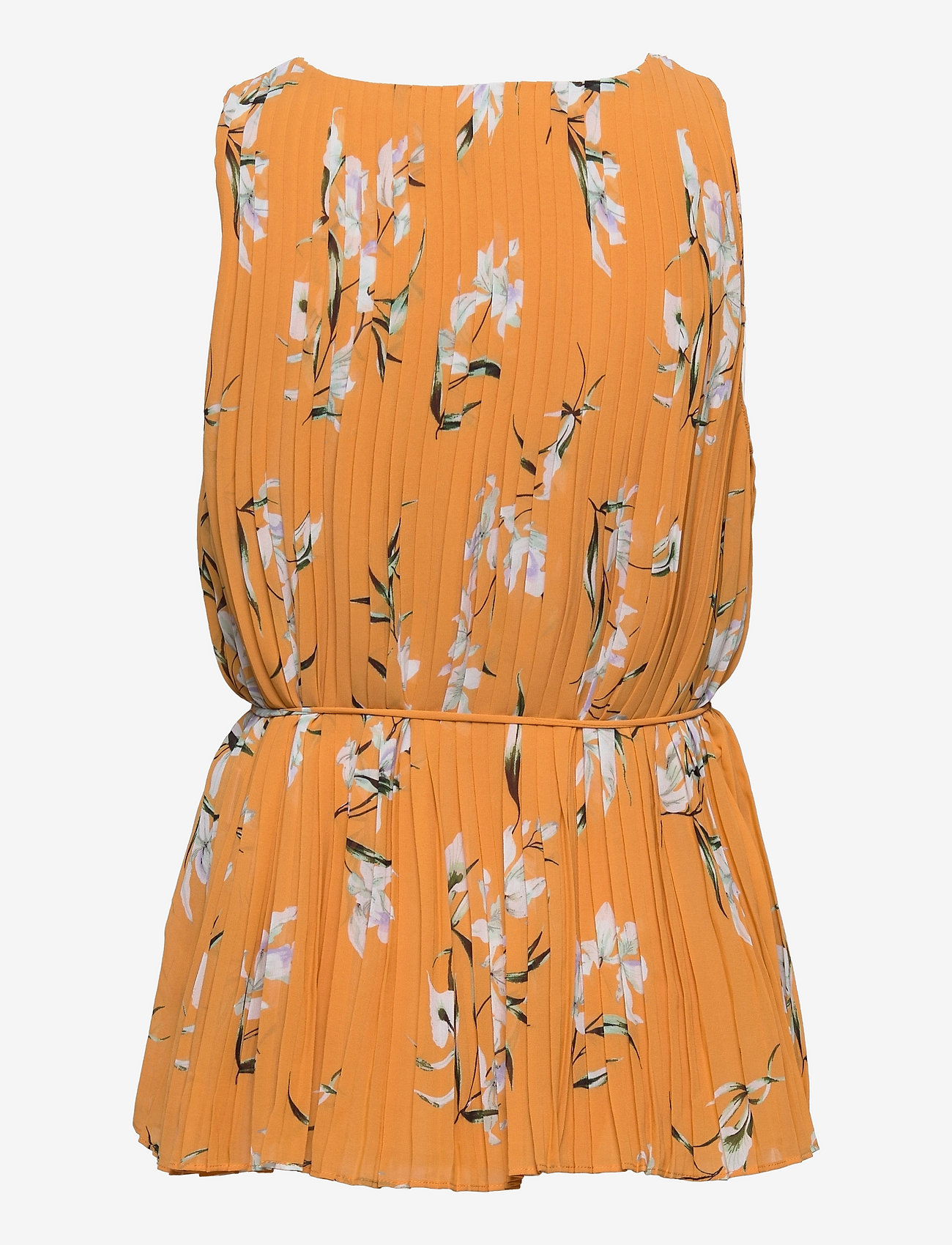 Banana Republic - Pleated Top - sleeveless blouses - yellow floral - 1