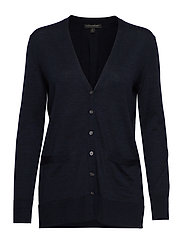 Washable Merino Boyfriend Cardigan Sweater - BASIC NAVY
