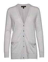 Washable Merino Boyfriend Cardigan Sweater - LIGHT GREY