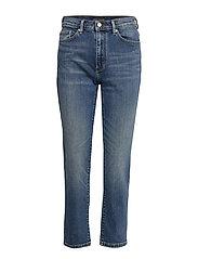High-Rise Straight Ankle Jean - INDIGO