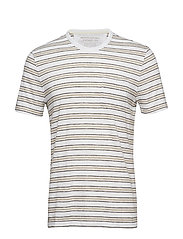 VINTAGE SS TRI STRIPE POCKET CREW - OPTIC WHITE 900