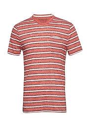 Vintage Crew-Neck T-Shirt - REDDISH ORANGE 197