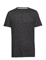 Vintage Henley T-Shirt - BLACK