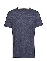 Vintage Henley T-Shirt - FADED NAVY