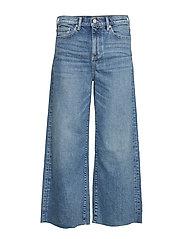 High-Rise Wide-Leg Cropped Jean - MEDIUM BLUE VINTAGE
