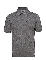 PCC CONTRAST COLLAR SS POLO - DARK GREY