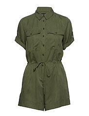 TENCEL™ Utility Romper - FLIGHT JACKET