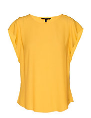 Flutter-Sleeve Top - DANDELION YELLOW GBL