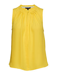 Pleated Sleeveless Top - DANDELION YELLOW GBL