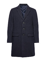 Italian Melton Topcoat - NAVY