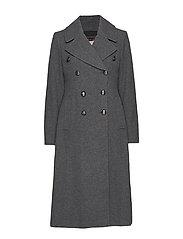 Italian Melton Long Coat - GREY