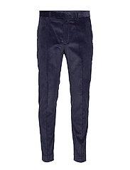 Slim Tapered Italian Corduroy Suit Pant - NAVY